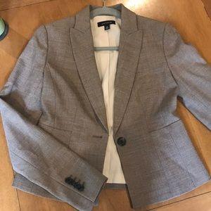 Ann Taylor gray tweed jacket